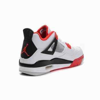 nike zoom kobe vii 7 - Nike Air Jordan 4 Iv Retro Blanc Noir Rouge
