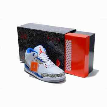 Air Jordan 3 Retro Bleu Blanc Ciment