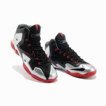 chaussure de basket lebron james 11 femmes noir argent